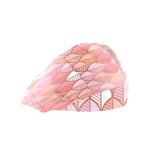 Gorra de trabajo ajustable de hoja de oro rosa con banda de algodón para el sudor, sombrero para mujeres y hombres