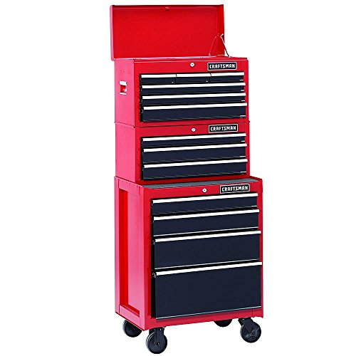26 In. 13-drawer Heavy-duty Ball Bearing 3-pc Combo Is Perfect for Your Home, Garage or Small Work Shop. This 3 Piece Set Includes a Top Chest, Middle Chest and Rolling Cabinet. Store Small Parts, Hand Tools or Power Tools in These Storage Boxes.
