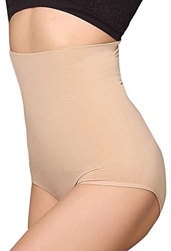 ANGOOL Cintura Alta Braguitas Moldeadora Fajas Reductoras Efecto Vientre Plano para Body Shaper para Mujer (Beige, M)