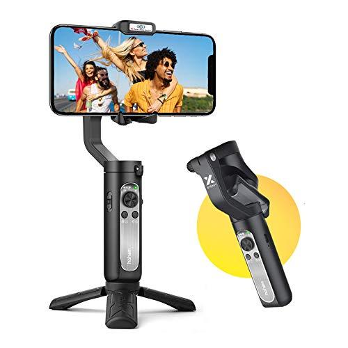 hohem Gimbal Smartphone 3 Assi Stabilizzatore Smartphone Portatile con 5 modalità per Vlog/Youtuber, Stabilizzatore Video Caricamento 280g per iPhone 12/11/Xs Max/Samsung Galaxy/Huaiwei/Xiaomi etc