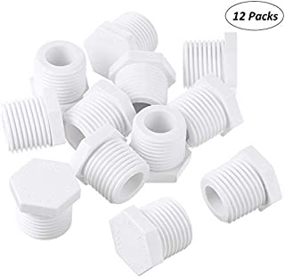Mudder 12 Pieces 1/2 Inch 11630 91857 Water Heater Drain Plug White Plastic Drain Plug Compatible with RV Camper and Atwood Water Heaters