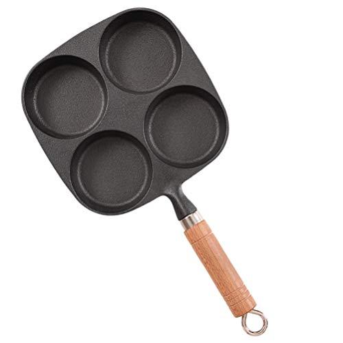 BESTonZON 4 Tasse Eierpfanne Antihaft-Eierkochgeschirr Gusseisen Spiegelei-Kocher Eisen Eierkocher Ringe Runde Omelett Burger Pfannkuchenpfanne zum Kochen