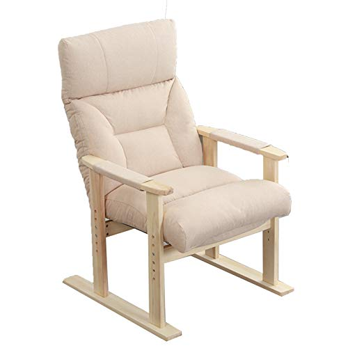 RYSB Recliner Chair,Backrest Folding Thick Seat Cushion Armchair,Bedroom Balcony Padded Seat Home Office Chair