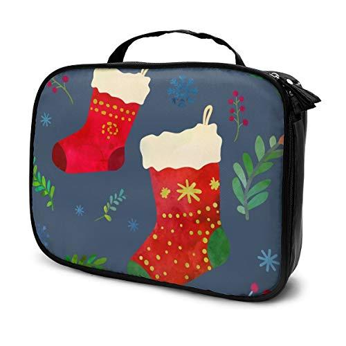 Sacs à cosmétiques pour les voyages de femmes, chaussettes de Noël drôles. Trousse de dessin animé Clip Art Illustration