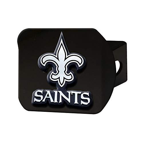 FANMATS - 21561 NFL New Orleans Saints Metal Hitch Cover, Black, 2