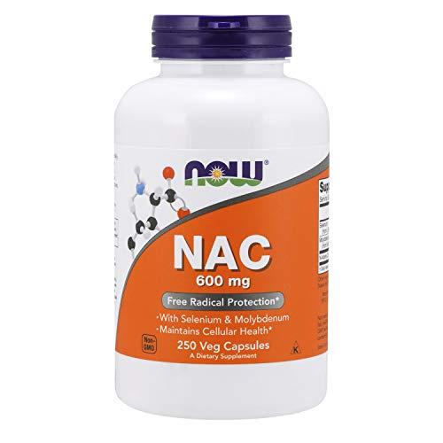 Now Foods, NAC, 600 mg, 250 Cápsulas vegetarianas, sin soja, sin gluten