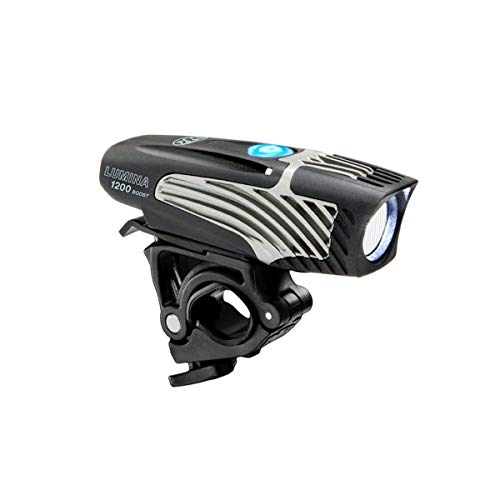 NiteRider Lumina 1200 Boost USB Rechargeable Bike Light Powerful Lumens Bicycle Headlight LED Front Light Easy to Install for Men Women Road Mountain City Commuting Adventure Cycling Safety Flashlight