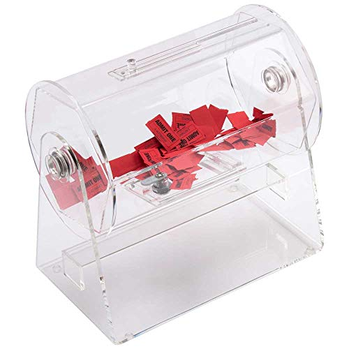 GSE Games & Sports Expert Acrylic Raffle Ticket Drum - Available in Small, Medium, Large Size (Small - Holds 2,000 Tickets)