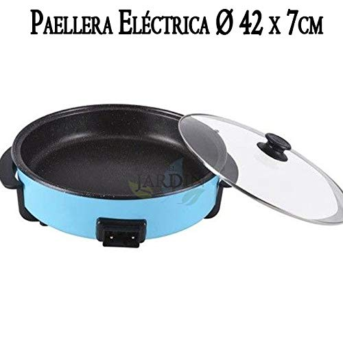 Suinga PAELLERO cazuela eléctrica 1500W Ø 42 x 7 cm Revestimiento Piedra. Temperatura hasta 250ºC. Capa Antiadherente para una Mayor duración.