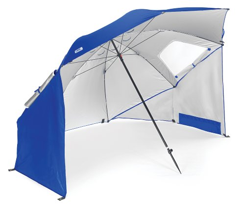 Sport-Brella Vented SPF 50+ Sun and Rain Canopy Umbrella for Beach and Sports Events (8-Foot, Blue)
