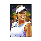 Poster sur toile Ana Ivanovic - Motif joueur de tennis - 60 x 90 cm