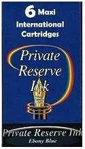 Private Reserve Maxi International Fountain Pen Ink Cartridges (6-pack) - Ebony Blue