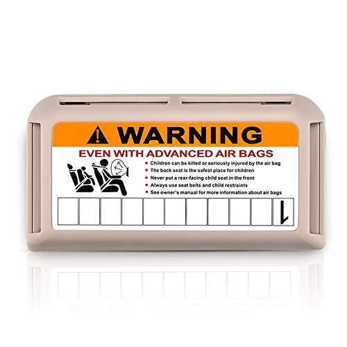 ONEVER Boîte de rangement pour pare-soleil de voiture, cartes de stationnement, cartes de visite, tickets, avec plaque d'immatriculation téléphonique de stationnement temporaire