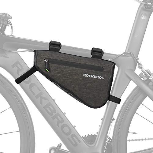ROCKBROS(ロックブロス)フレームバッグ 防水 ロードバイク 大容量 サイクル トップチューブバッグ トライアングルバッグ ストラップ式 小物収納 取り付け簡単 3L/5L