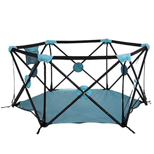 Find Discount Baby Fence Foldable Light Portable Children Toddler Guardrail Indoor and Outdoor Multi...