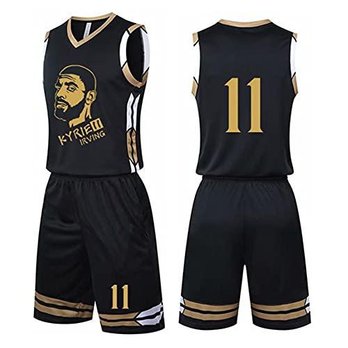 QGF Kyrie Irving # 11 Camiseta De Baloncesto, Brooklyn Nets Golden Star Traje De Uniforme De Baloncesto Juego De Entrenamiento Ropa Deportiva para Adultos Y Niños S
