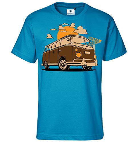 Customized by S.O.S Herren T-Shirt Bus Spring (4XL, Türkis)