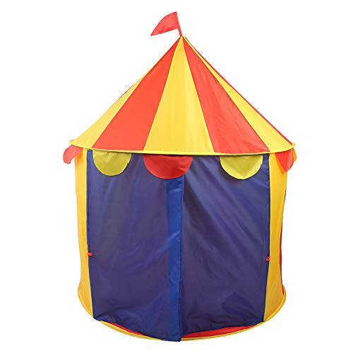 Portable Children Play Tent, Foldable Kids Play House Castle Room Indoor Outdoor Circus Tent Shape(Circus)