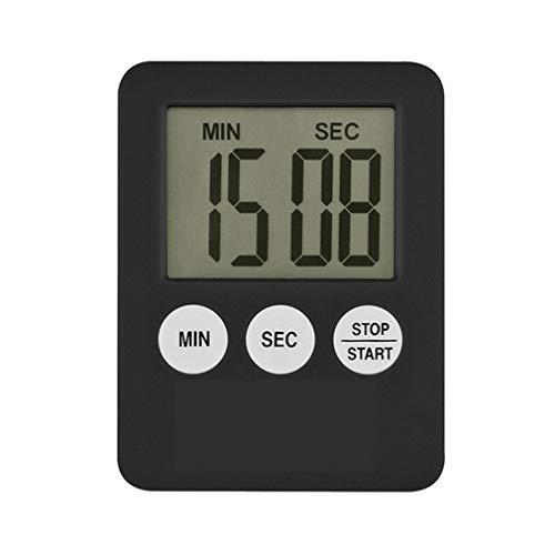 WEQQ Led Digital Home Kitchen Temporizador electrónico Recordatorio de medicación Temporizador de Cocina (Negro)