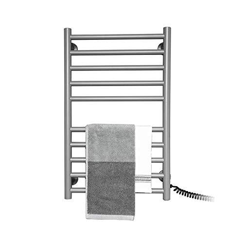DFBGL Toallero eléctrico para baño, toallero Calefactor de Montaje en Pared, Rejilla de Secado rápido con Ahorro de energía de 80 W, Gris Cielo