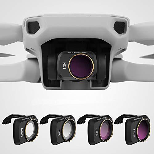 Hensych Filtro de lente de cámara para Mavic Mini/Mavic Mini 2 Drone MCUV CPL ND Filtro NDPL de alta transmitancia Marco de modelado integrado (MCUV+CPL+ND4+ND8)