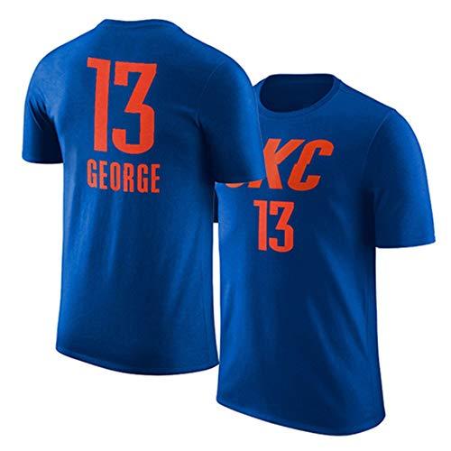 HUWAI T-Shirt Oklahoma City Thunder Paul George OKC Short-Sleeved fans Half-Sleeved warming-up pak