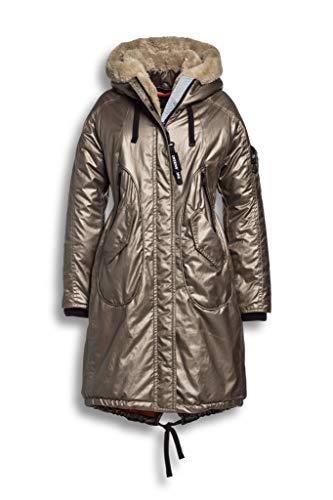 Creenstone Parka with Detachable Faux Fur Womens Jacket UK 14 Reg Camel