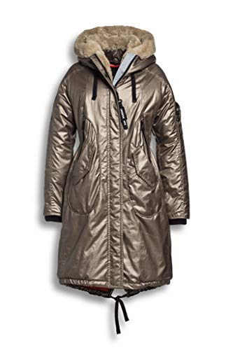 Creenstone Parka with Detachable Faux Fur Womens Jacket UK 14 Reg Camel