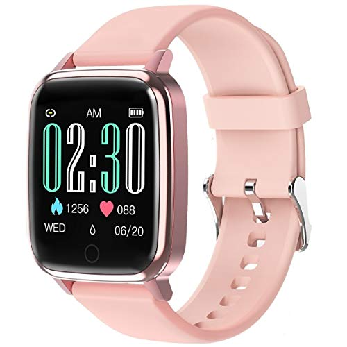 GOKOO Smart Watch for Women with All-Day Heart Rate Monitor Sleep Monitor Step Calorie Kilometer Activity Tracker Waterproof IP67 Pedometer Camera Remote Female Reminder Fitness Tracker Smartwatch