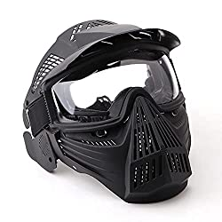 commercial NINAT Tactical Paintball Mask Airsoft Mask Full Face Mask with Transparent Glasses Eye Protective Equipment … airsoft cool masks