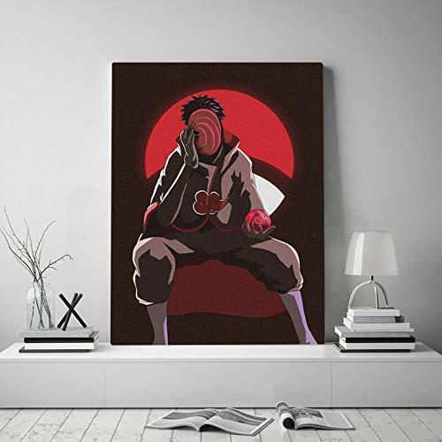 agwKE2 Arte de Pared Obito Uchiha Pinturas en Lienzo Cartel de Naruto Decoración del hogar Impresiones Imágenes Dibujos Animados japoneses para Sala de Estar Modular / 60x80cm (sin Marco)