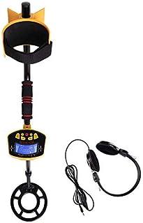 HYY-YY MD-3010II - Detector de metales subterráneos portátil de alta sensibilidad con puntero dorado y buscador de tesoros