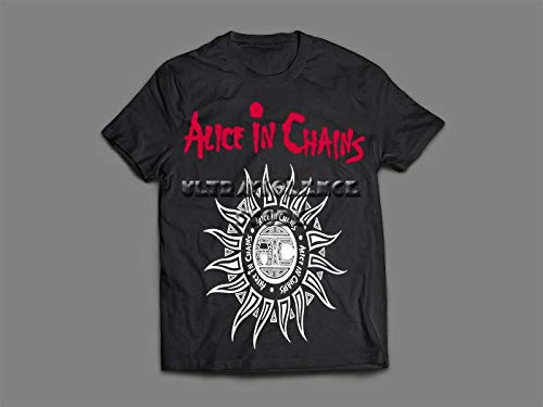Camiseta/Camisa Feminina Alice In Chains Tamanho:P;Cor:Preto