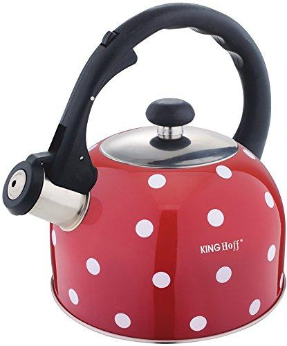 2 Liter Flötenkessel Whistling Kettle Teekanne Wasserkanne Wasserkessel Rot