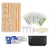 DZWJ Kit de Entrenamiento quirúrgico de sutura de Piel médica Almohadilla de Silicona Tijeras de Aguja Suave Fácil de operar Silicona Ayudas de enseñanza médica