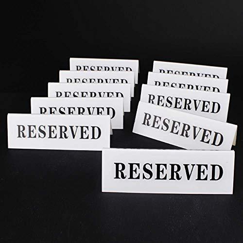 Airgoesin - Señal de acrílico para mesa de restaurante, hotel, cafetería, bar (10 unidades, 12 x 4 cm)