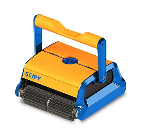PRODUCTO QP - Limpiafondos SCIPY / Limpiador de Piscinas/ limpiafondos automatico piscina / robot limpiafondos piscina/ programa inteligente autoadaptativo / Color Naranja