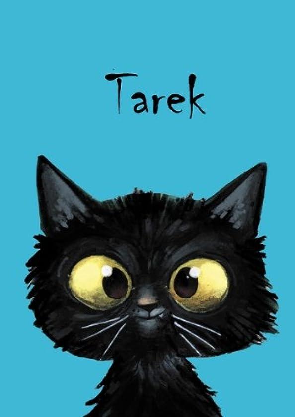 ずんぐりしたコミュニケーション衝動Tarek: Tarek - Katzen - Malbuch / Notizbuch / Tagebuch: A5 - blanko