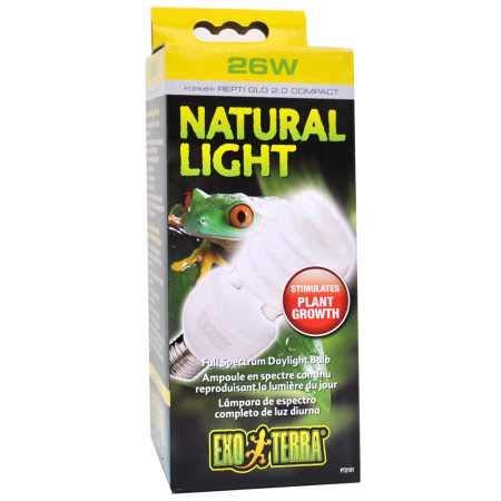 Exo Terra Natural Light Vollspektrum-Tageslichtlampe für Reptilien und Amphibien 25W