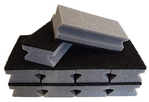 Sonty 10 Stück Topfreiniger Jumbo XL, Schwamm schwarz (grau, 15 x 7 x 4 cm)