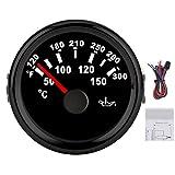 aqxreight Kit indicatore della Temperatura dell'olio a 8 Colori da 52 mm, da 50 a 150 Grad...