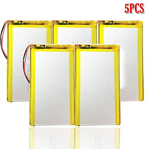 N 10000 Mah 3.7 v Batería Recargable De PolíMero De Litio De Litio Li-Ion Li Po CéLulas para DVD GPS e-Book Mp3 5pcs