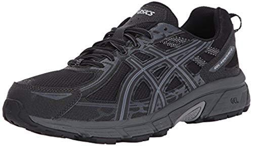 ASICS Mens Gel-Venture 6 Running Shoe, Black/Phantom/Mid Grey, 10.5