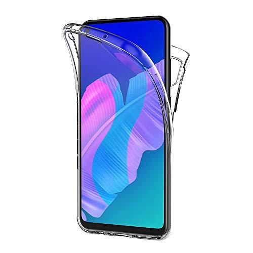 AICEK Hülle Compatible Huawei P40 Lite E / Y7p 360°Full Body Transparent Silikon Schutzhülle für Huawei P40 Lite E Hülle Durchsichtige TPU Bumper Huawei Y7p Handyhülle (6,39 Zoll)
