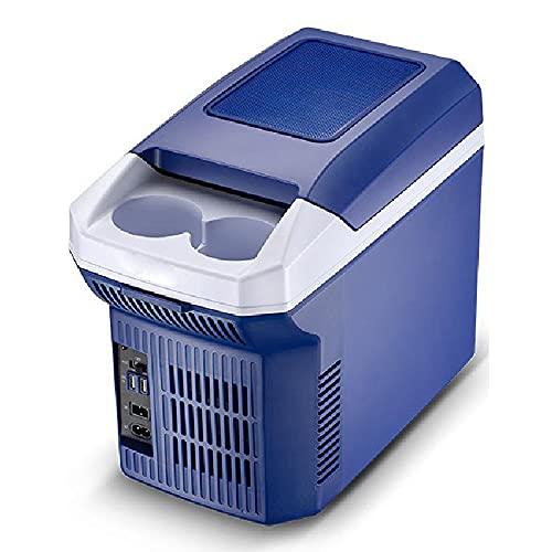 GGYYY Congelador para refrigerador portátil, refrigerador de Mini refrigeradores de automóviles con tecnología de enfriamiento de Doble núcleo de Correa, para Uso en el hogar,Blue
