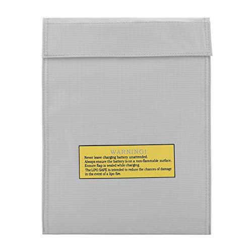 con Tela ignífuga Bolsas para Documentos Resistentes al Fuego Efectivo Protección de Pasaporte por Dinero(Silver, Large)