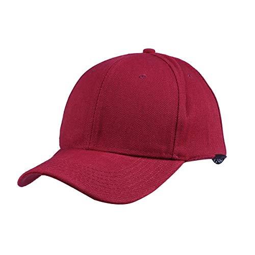 LIOOBO Fashion Plain Baseball Cap für Damen Herren Outdoor Sport Sonnenschutz (Rot)