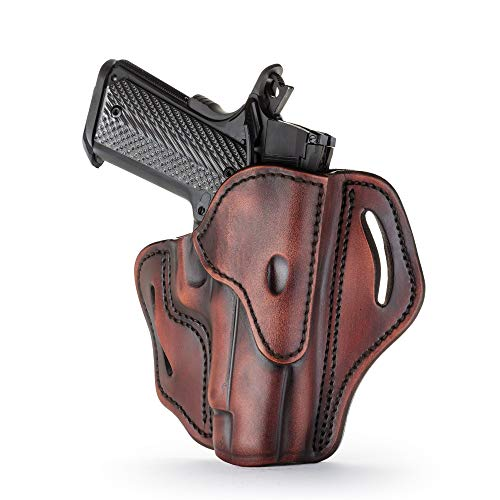 1791 GUNLEATHER Holster for Sig Sauer P226, P220, P229 Right Hand OWB Leather Gun Holster for Belts Also fits 1911 with Rails, HK VP9, Beretta 92FS -(BH2.3) (Vintage)