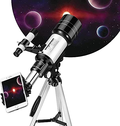 Telescope for Kids& Beginners, 70mm Aperture 300mm Astronomical Refractor Telescope, Tripod& Finder Scope- Portable Travel Telescope with Smartphone Adapter