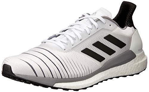 adidas Solar Glide M, Scarpe da Corsa Uomo, Bianco (Ftwrwhite/CoreBlack/Greythree), 44 EU